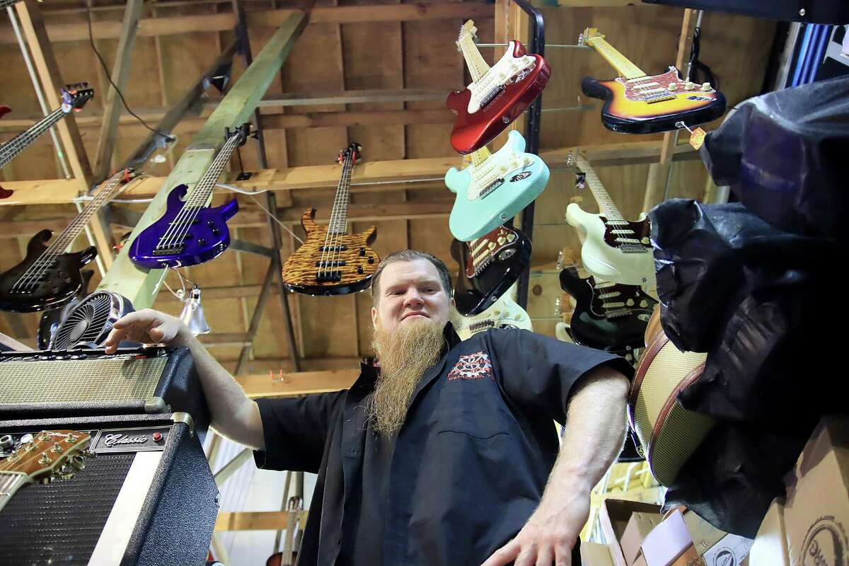 Manager Chase Townsend. Pearland's Music Factory celebrates 50 years in business.