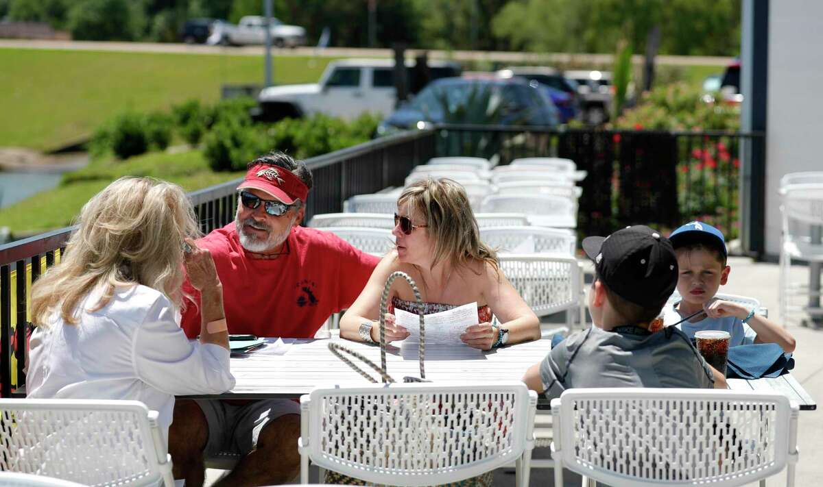 at Monty's Lighthouse Cajun Bar & Grill, Saturday, May 2, 2020, in Montgomery. Restaurants around Montgomery County were able to reopen at 25 percent capacity after Gov. Greg Abbott's executive order ended Thursday.