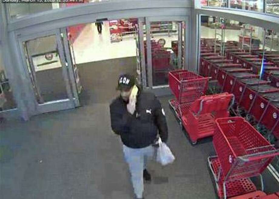 Redding police are asking for the public's help to identify a suspect who used a stolen credit card in Trumbull. The victim's credit card was used at a Target Store located in Trumbull. Photo: Contributed Photo