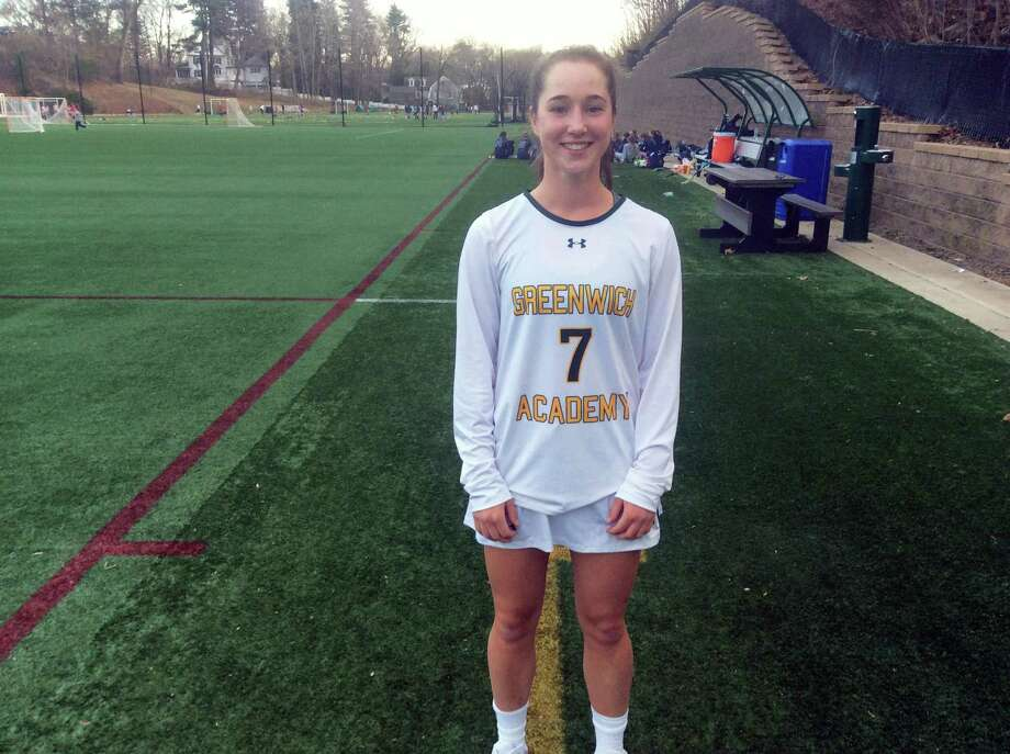 Tessa Brooks scored three goals in Greenwich Academy's 17-9 season-opening win against visiting Wilton on Thursday, April 5, 2019. Photo: David Fierro / Hearst Connecticut Media / Connecticut Post