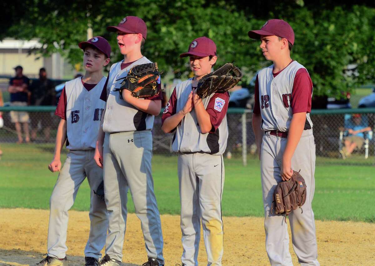 Little league baseball action between North Haven and Fairfield American at Unity Field in Trumbull, Conn., on Friday July 19, 2019.