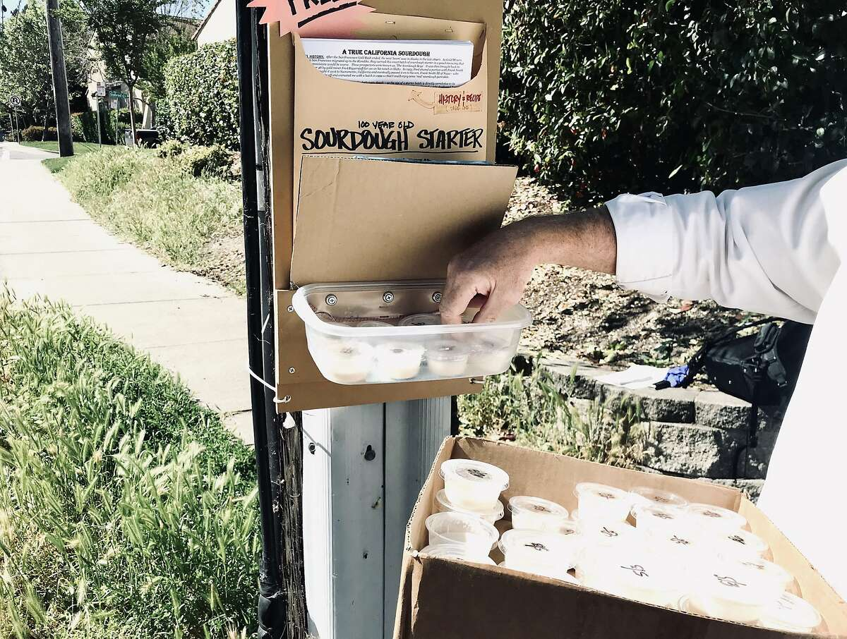 A Walnut Creek man who has stayed anonymous created a sourdough starter kiosk, distributing a 100-year-old starter to more than 650 people.