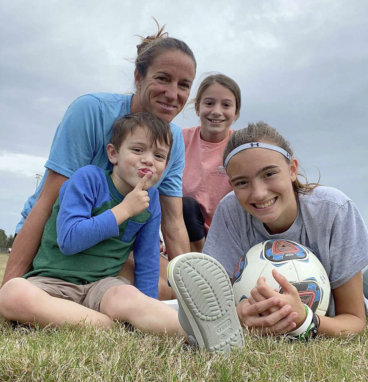 Nicole Roberts, a former US Women's National Team Player and New York State High School Girls Soccer Hall of Famer, lives with her husband in DeLand, Fla. She is pictured with Sydney, 14, Kylie, 12 and Jayce, 5. (Provided)