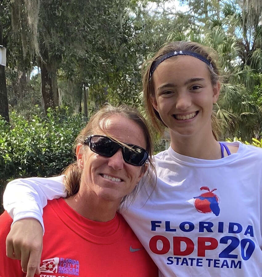 Nicole Roberts, a former US Women's National Team Player and New York State High School Girls Soccer Hall of Famer, with her daughter Sydney, 14. (Provided)