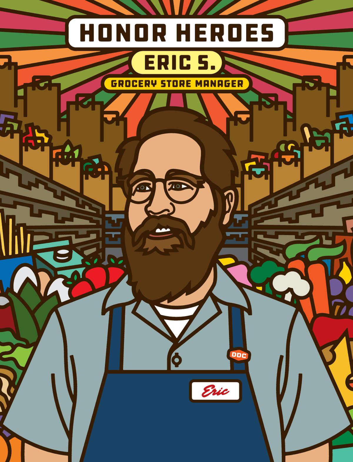 Heroes ArtistAaron DraplinHonoring: Grocery Store Mgr. Eric S. Creative artists such as Aaron Draplin, Donna Adi, Jessica Walsh and Ignasi Monreal -