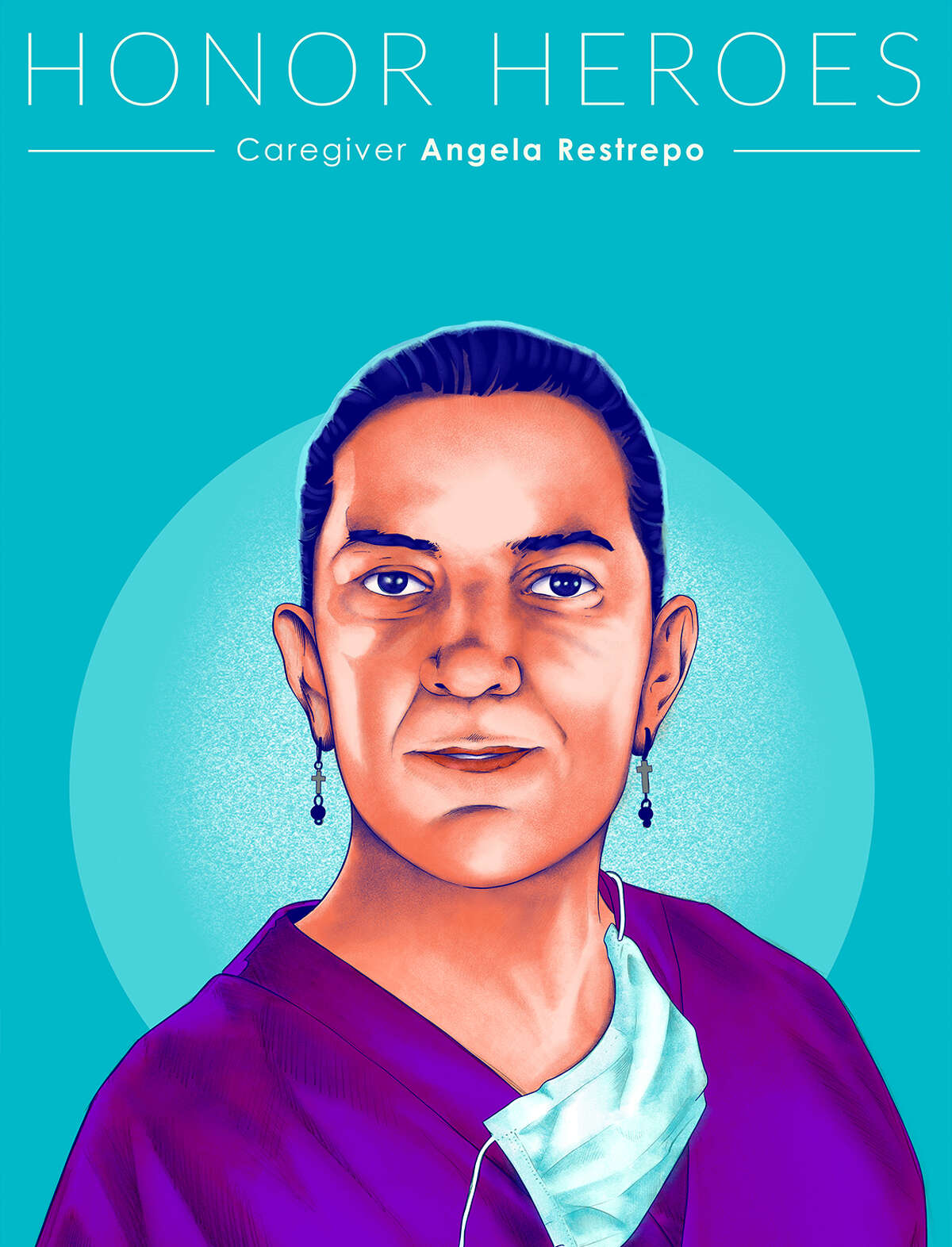 Heroes ArtistBrian YapHonoring: Caregiver Angela Restrepo From healthcare providers, first responders, delivery drivers, sanitation workers, mail carriers, supermarket staff, schoolteachers, and many others, Adobe and these creative luminaries are shining a light on their tireless efforts.