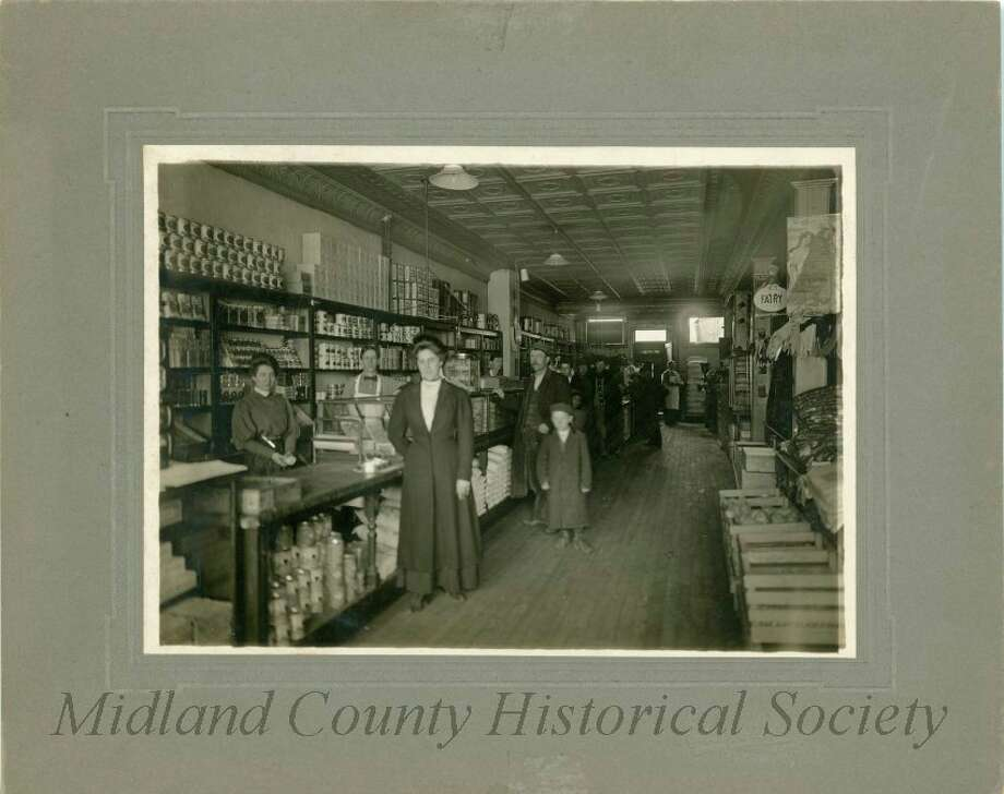 Thompson Merchantile, once Olmsted and Sommerville (Midland County Historical Society)