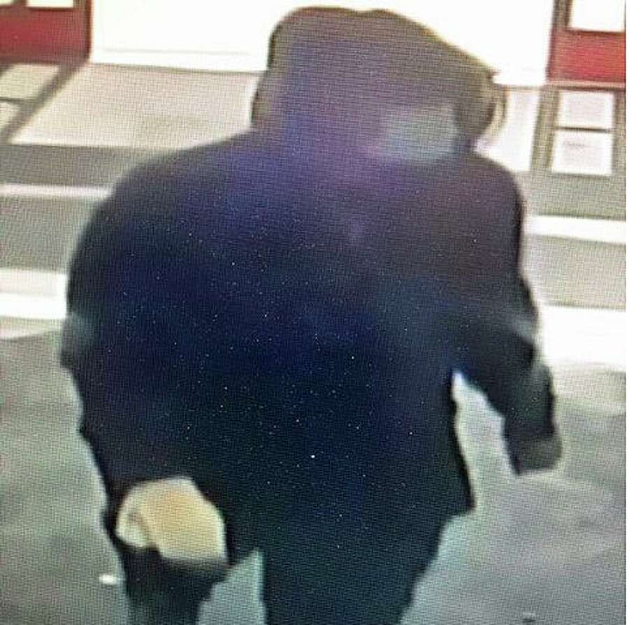 Police are looking for a man in an armed robbery of the CVS Pharmacy on Berlin Road in Crowell Sunday. Photo: Cromwell Police Department