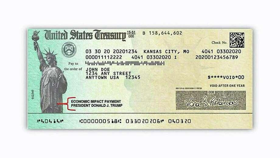 Stimulus checks have six unique security features. Photo: Contributed Photo