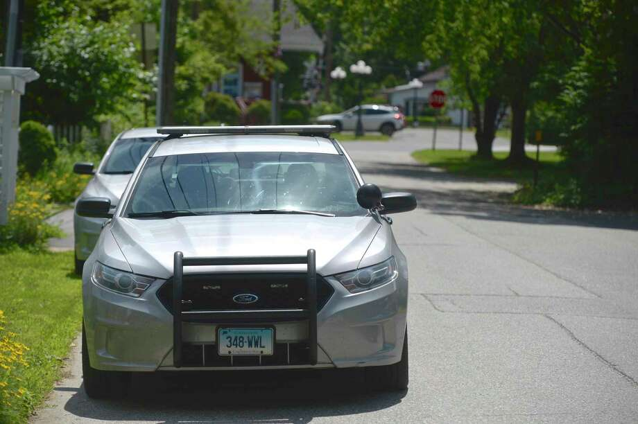 Connecticut State Police in Kent, Conn., June 2019. Photo: H John Voorhees III / Hearst Connecticut Media / The News-Times