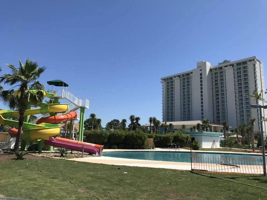 Construction photos of Lake Conroe's Margaritaville Resort, set to open this July. Photo: Courtesy Margaritaville