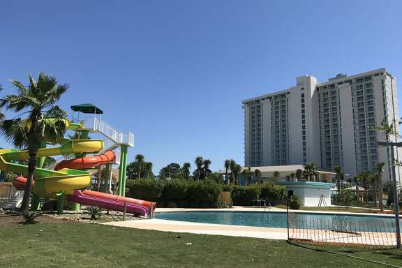Construction photos of Lake Conroe's Margaritaville Resort, set to open this July.