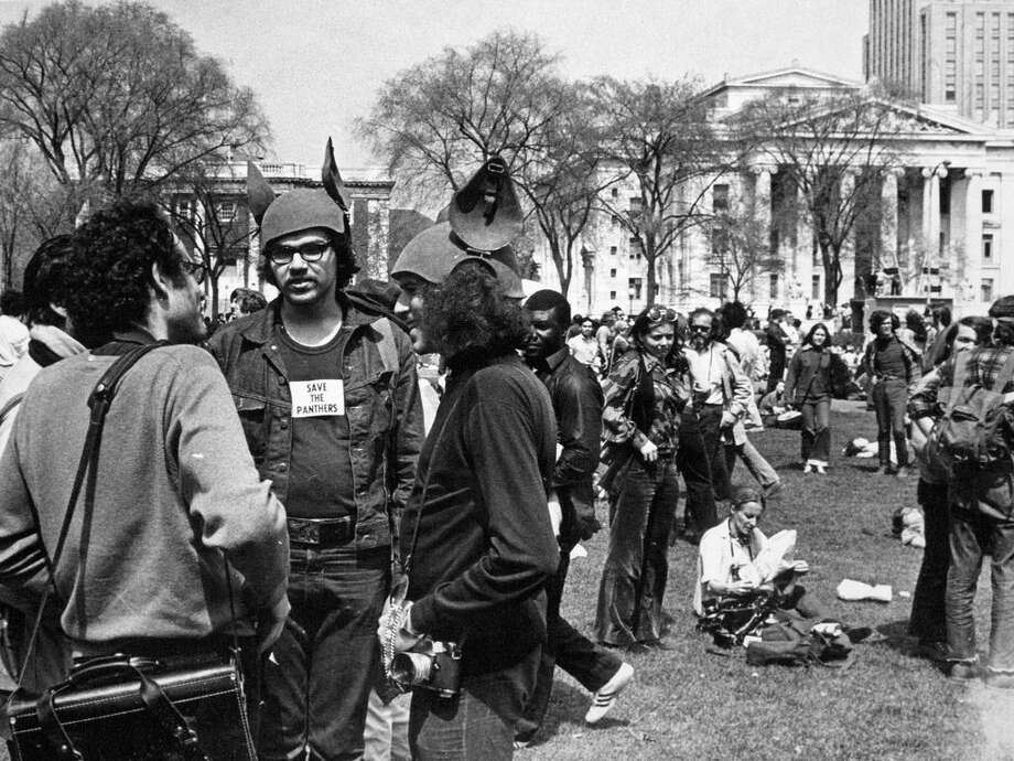 A crowd gathered on the New Haven Green on May 1,1970, to protest the jailing of eight Black Panthers. Photo: File Photo