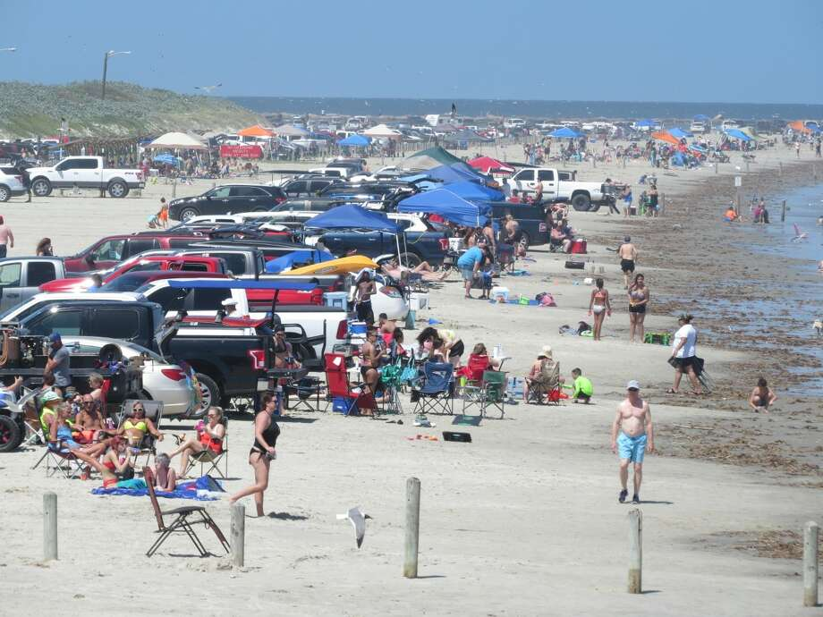 "On May 2, 2020, one local captured the ""craziness"" of the amount of people who flooded the Port Aransas beaches. Photo: Neesy Tompkins"