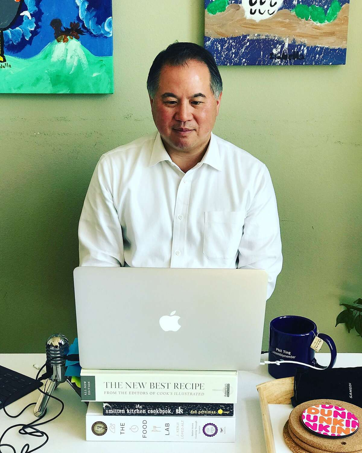 Assemblyman Phil Ting, D-San Francisco, hosts a virtual town hall during the coronavirus pandemic. Ting spoke with constituents April 29 from his home in the Sunset neighborhood.