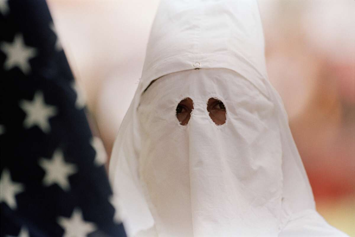 A file photo of a Ku Klux Klan hood (for illustration purposes only).