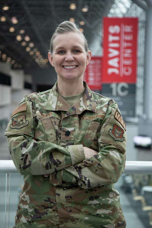 Fort Bend County resident and Air Force Lt. Col. Angella Mudd is currently in New York City helping to fight the COVID-19 pandemic. Photo: Courtesy Of The United States Air Force