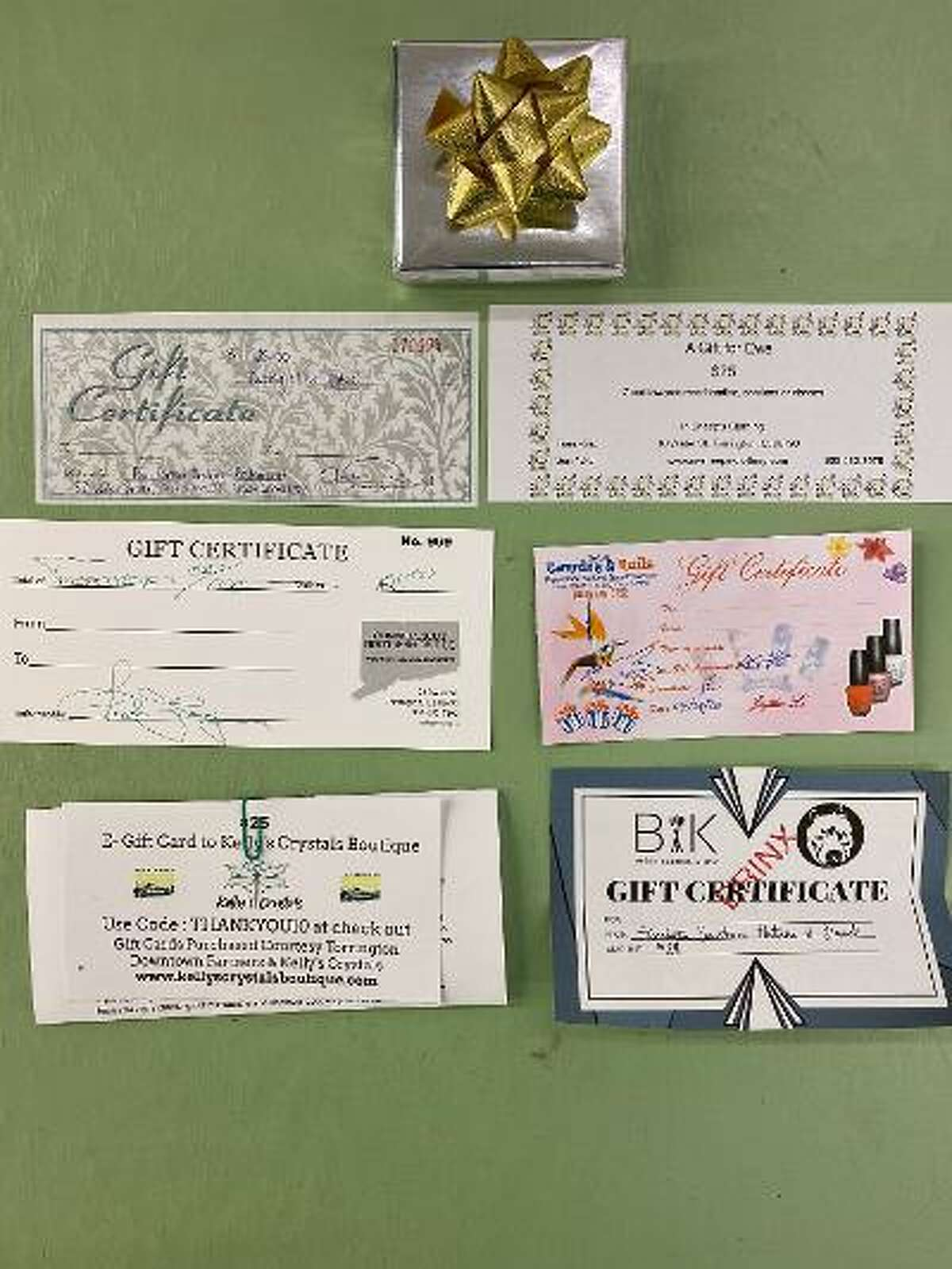 The Torrington Downtown Partnersorganized a gift card collection totaling $3,500 in value from seven businesses. With a generous contribution by the partners to share the cost,the groupcollected 140 gift cards valued at $25 each.