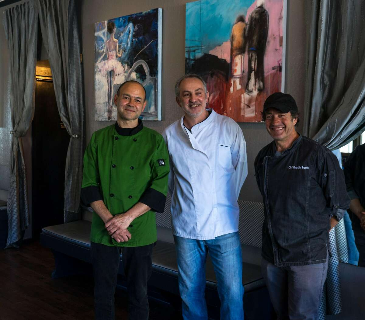 Serafina opened last week in North Beach for takeout. The team includes chef Umberto Cannarsa (left) and co-owners�Giuseppe Terminiello and�Maurizio Bruschi.