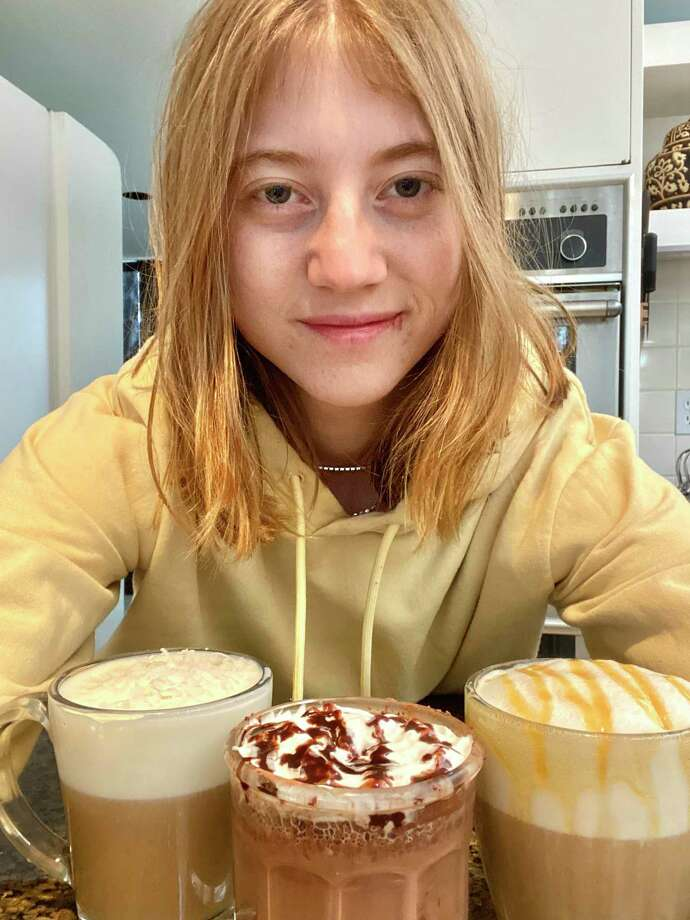 Alena Abramowitz has been building coffee creations in New Canaan during the coronavirus pandemic shutdown. Photo: Contributed Photo / New Canaan Advertiser Contributed