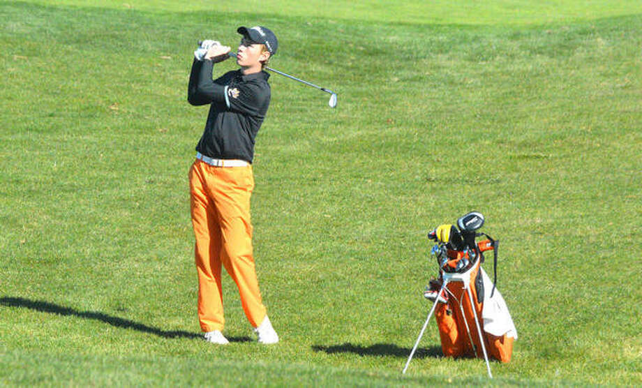 Justin Hemings was Edwardsville's first individual state champion in boys golf when he captured the Class 3A title his senior season in 2015. Photo: Intelligencer Sports Staff