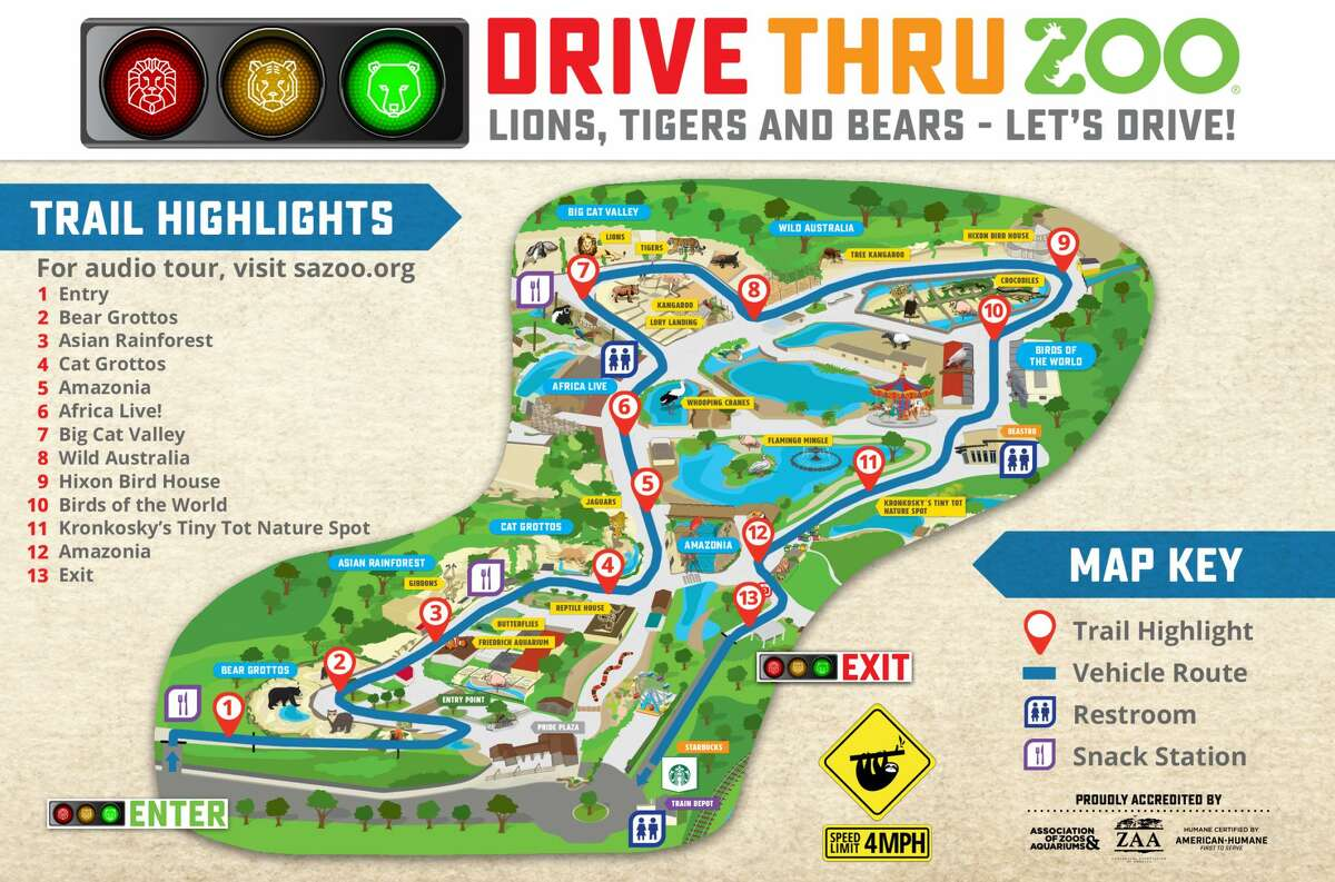 San Antonio Zoo President and CEO Tim Morrow shared photos of the sold-out weekend of the drive-thru experience, which allowed visitors to see the animals from the safety of their vehicles.