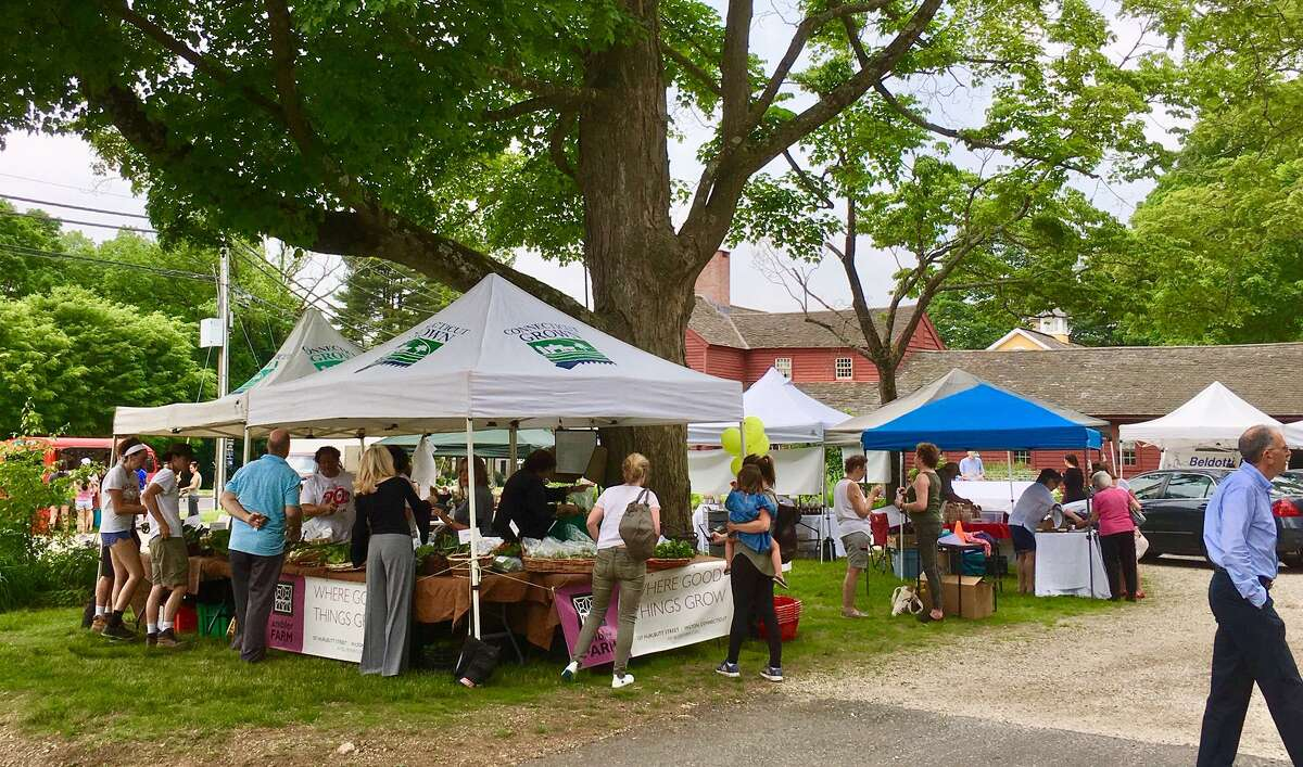 The Wilton Farmers Market is shown during a previous year. The Wilton Chamber of Commerce spotlights a local nonprofit organization each week at the Wilton Farmers Market, to help share their mission with the community. Students from Wilton High School recently produced a video showcasing the market, according to information from the Chamber.