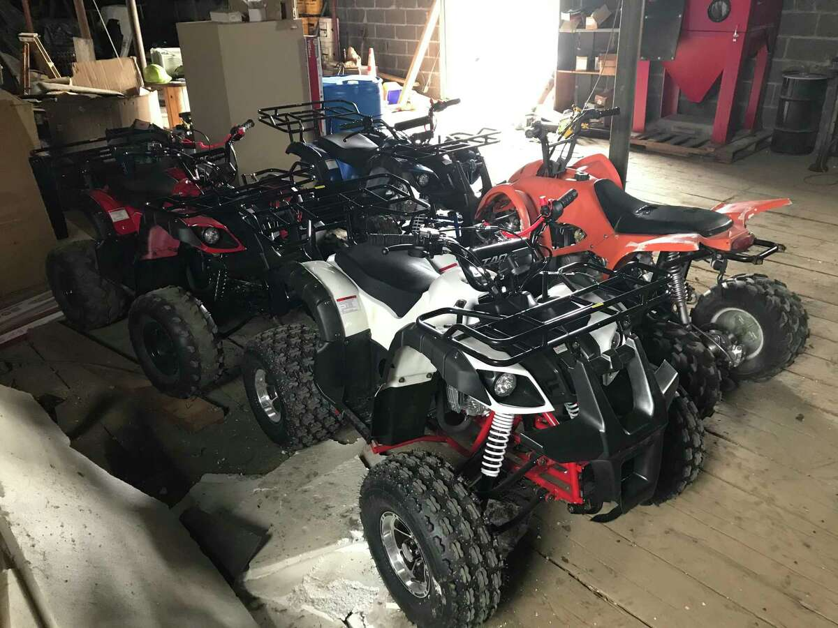 Vehicles confiscated during a May 4, 2020 weekend enforcement detail in Albany. On July 26, 2020 more than 50 bikers stopped traffic as they sped through lights on Central Avenue.