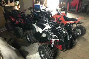 Vehicles confiscated during a weekend enforcement detail in Albany
