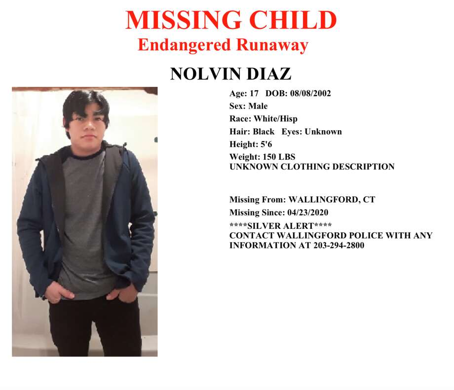 A silver alert issued for Nolvin Diaz before he was found dead. Photo: Connecticut State Police Communications Center