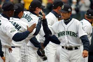 2001: Seattle Mariners win 116 games    After going  116-46  during the 2001 regular season, the Seattle Mariners were clear favorites to win the World Series. Edgar Martinez, Ichiro Suzuki, and John Olerud supplied the lumber, and manager Lou Piniella pulled the strings. But the Mariners could not overcome an equally stacked New York Yankees squad in the American League Championship Series and fell short of the World Series despite setting a record 116 wins.    This slideshow was first published on  Stacker