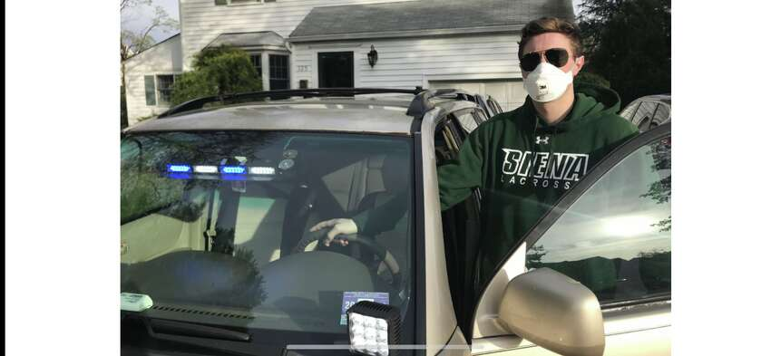 Siena lacrosse player Dan Maloney said he's seen life-changing events as an EMT. He also delivered a baby. (Courtesy photo)
