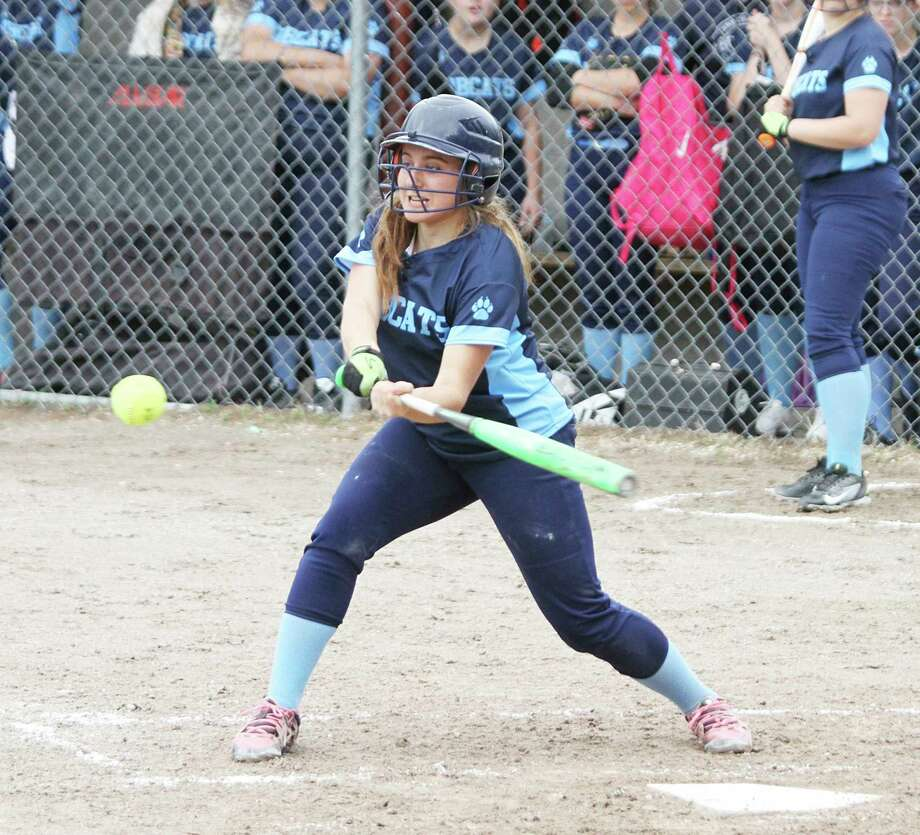 Senior Megan Cordes earned first-team all-conference honors last season and was looking to close out her prep career on a high note this spring. (News Advocate file photo)