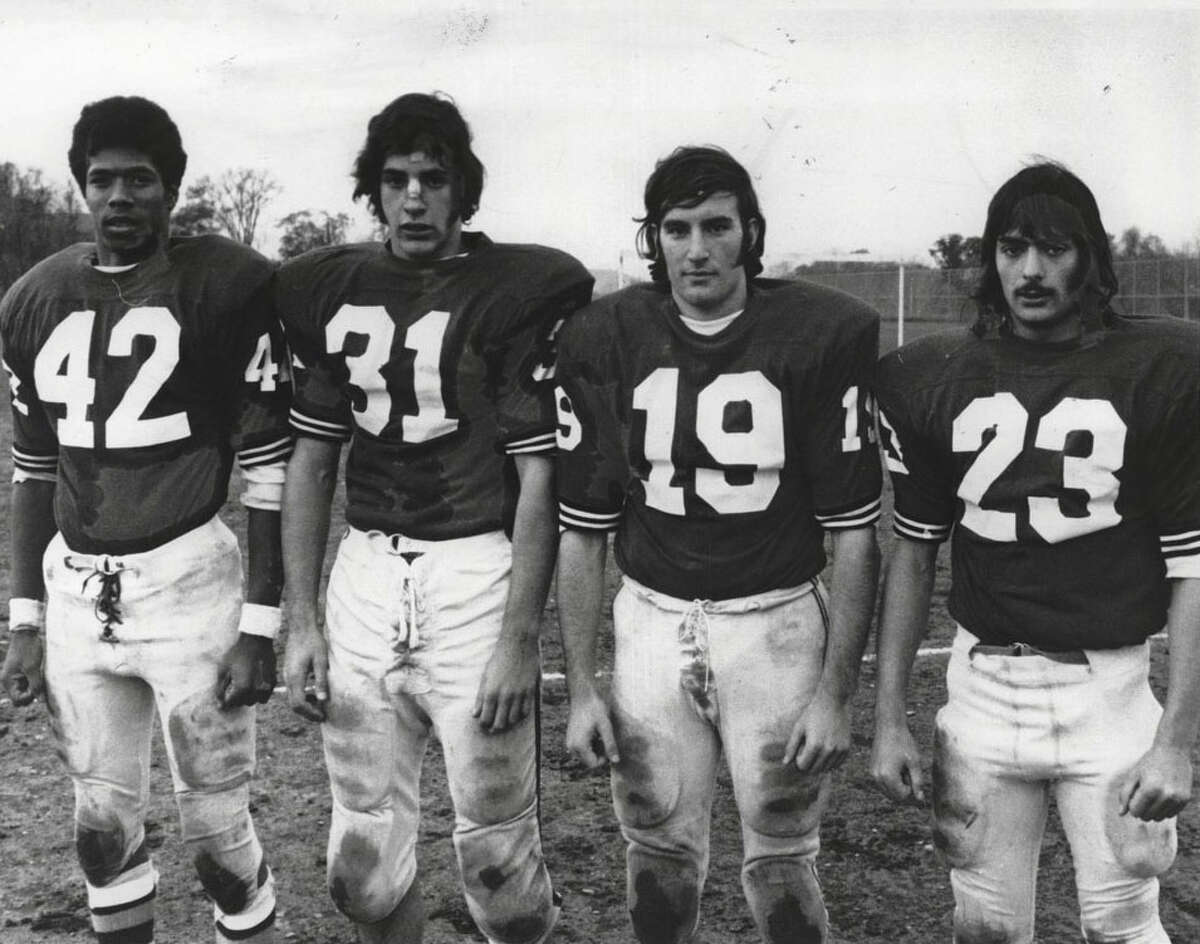 Orin Griffin, far left in a 1973 photograph, starred at Mont Pleasant before moving on to the University at Albany. (Times Union archive)