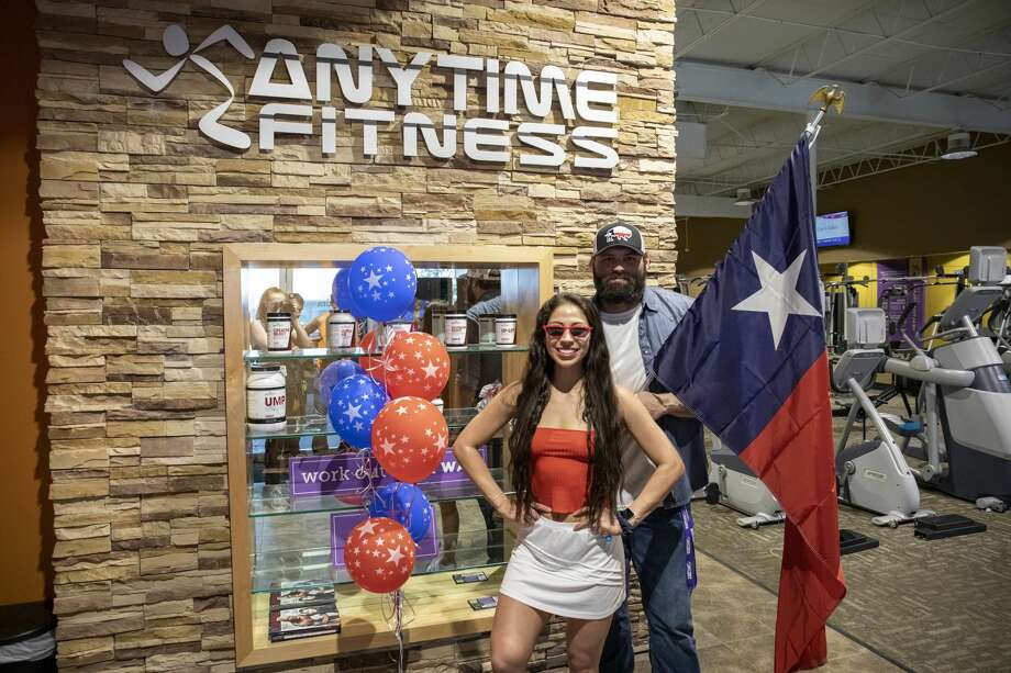 Anytime Fitness reopened on Friday at 1501 East 8th Street in Odessa. On Monday, May 4, 2020 owners Clint Gillispie and Celeste Solis celebrated the gyms fourth birthday, and the couple are also getting married this October. Jacy Lewis/Reporter-Telegram Photo: Jacy Lewis/Jacy Lewis/Reporter-Telegram