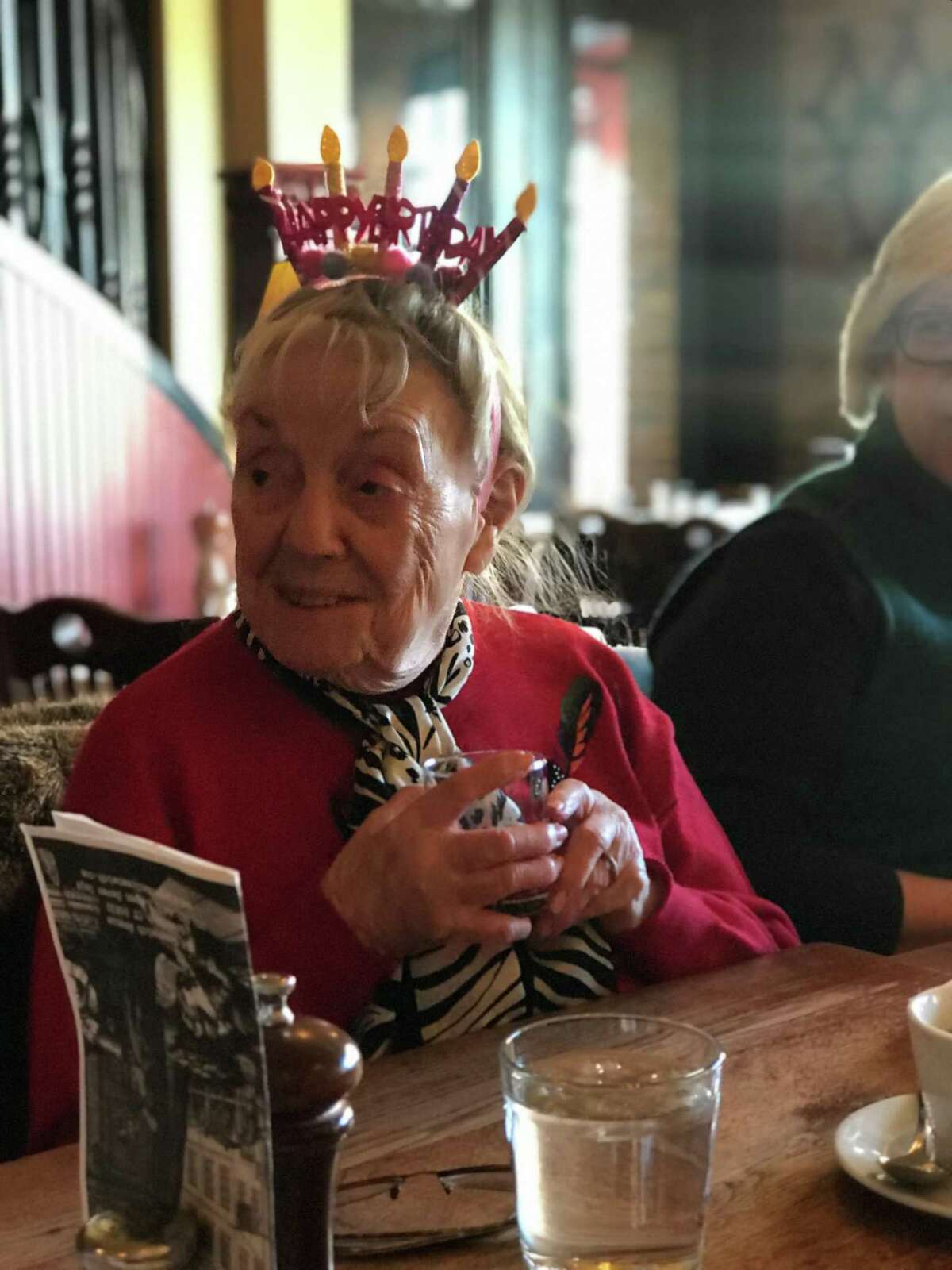 Evelyn Fiore at her 102nd birthday party at The Ginger Man in Greenwich.