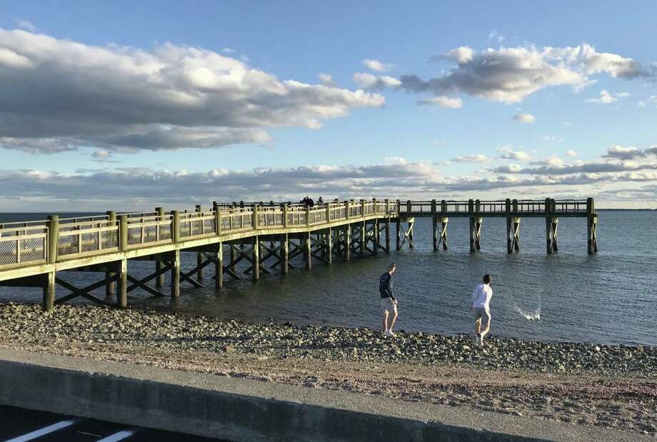 With weather warming up, Gulf Beach will be open to residents. Photo: Bill Bloxsom / Hearst Connecticut Media / New Haven Register