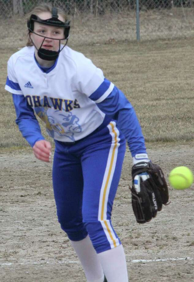 Madison Garbow pitched last season as a freshman for Morley Stanwood. (Pioneer file photo)