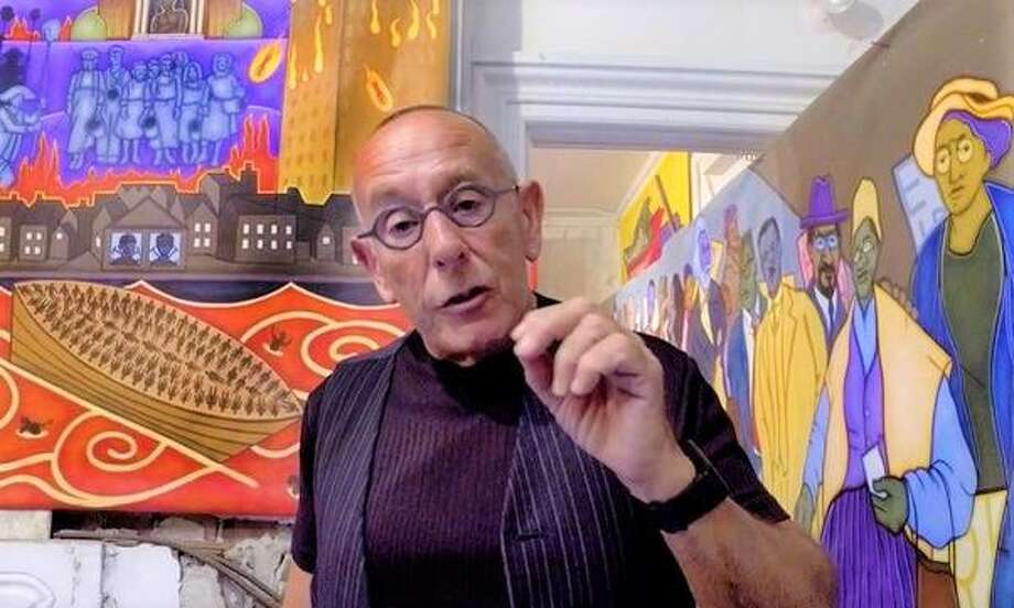 Mike Alewitz, a retired art professor from Central Connecticut State University and noted political muralist, was a student protest leader at Kent State University in Ohio on May 4, 1970. He witnessed the shootings by national guardsmen that killed four students and wounded nine. He's shown this year at the Red Square studio, gallery and museum in New London, the city where he lives. Photo: Courtesy Of Mike Alewitz /
