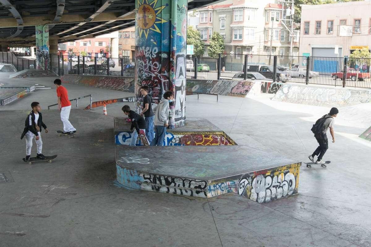 Skateparks Kids use a skatepark along Duboce Avenue in San Francisco.