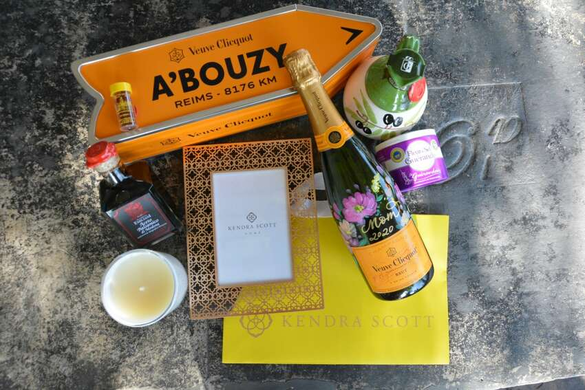 A'Bouzy: Order the dover sole and bottle of Veuve Clicquot Yellow Label takeout special to go ($69 for two people) or dine-in at brunch from 10 a,m, to 3 p.m. Reservations recommended. Mother's Day gift options include a bottle of Veuve Clicquot and either a Kendra Scott candle for $206 or a Kendra Scott rose gold frame for $254. 2300 Westheimer Rd., 713-722-6899, https://www.abouzy.com/