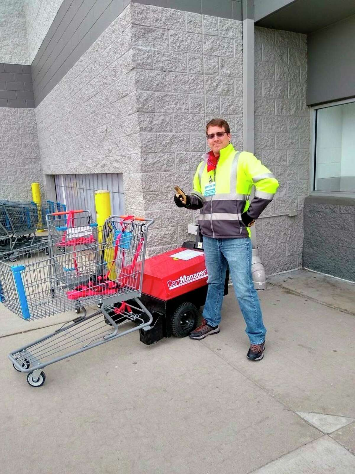 Jacob Boggs, a Bad Axe Walmart employee, is a Hero Unmasked. He has been working behind the scenes for two years in a position that was previously overlooked before the coronavirus pandemic. (Courtesy Photo)