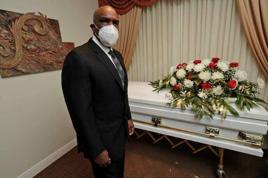 Andre Dawson poses for a photo at Paradise Memorial Funeral Home, Thursday, April 30, 2020, in Miami. For baseball Hall of Famer Andre Dawson, owning a funeral home has taken some getting used to. Now he's adjusting to life as a mortician in Miami during a global pandemic. (AP Photo/Wilfredo Lee) / Copyright 2020 The Associated Press. All rights reserved