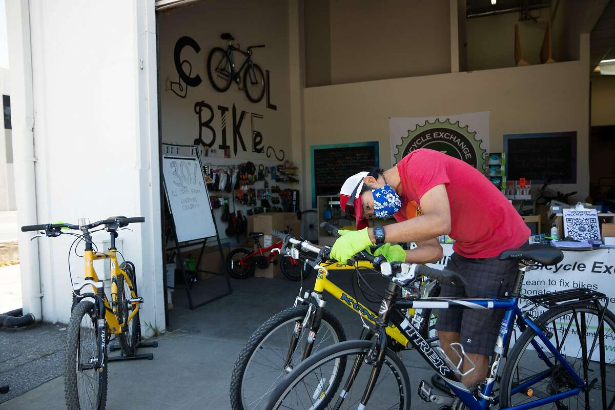 The Silicon Valley Bicycle Exchange, which fixes up used bikes and donates them to those in need, earns revenue by hosting team-building events with tech companies and selling some of the bikes it fixes. Without those corporate events, general manager Andrew Yee has been posting a slew of donated merchandise - like handlebar grips and tape, saddles and cycling shoes - on various online platforms, and using the proceeds to cover some of the nonprofit's operating costs.