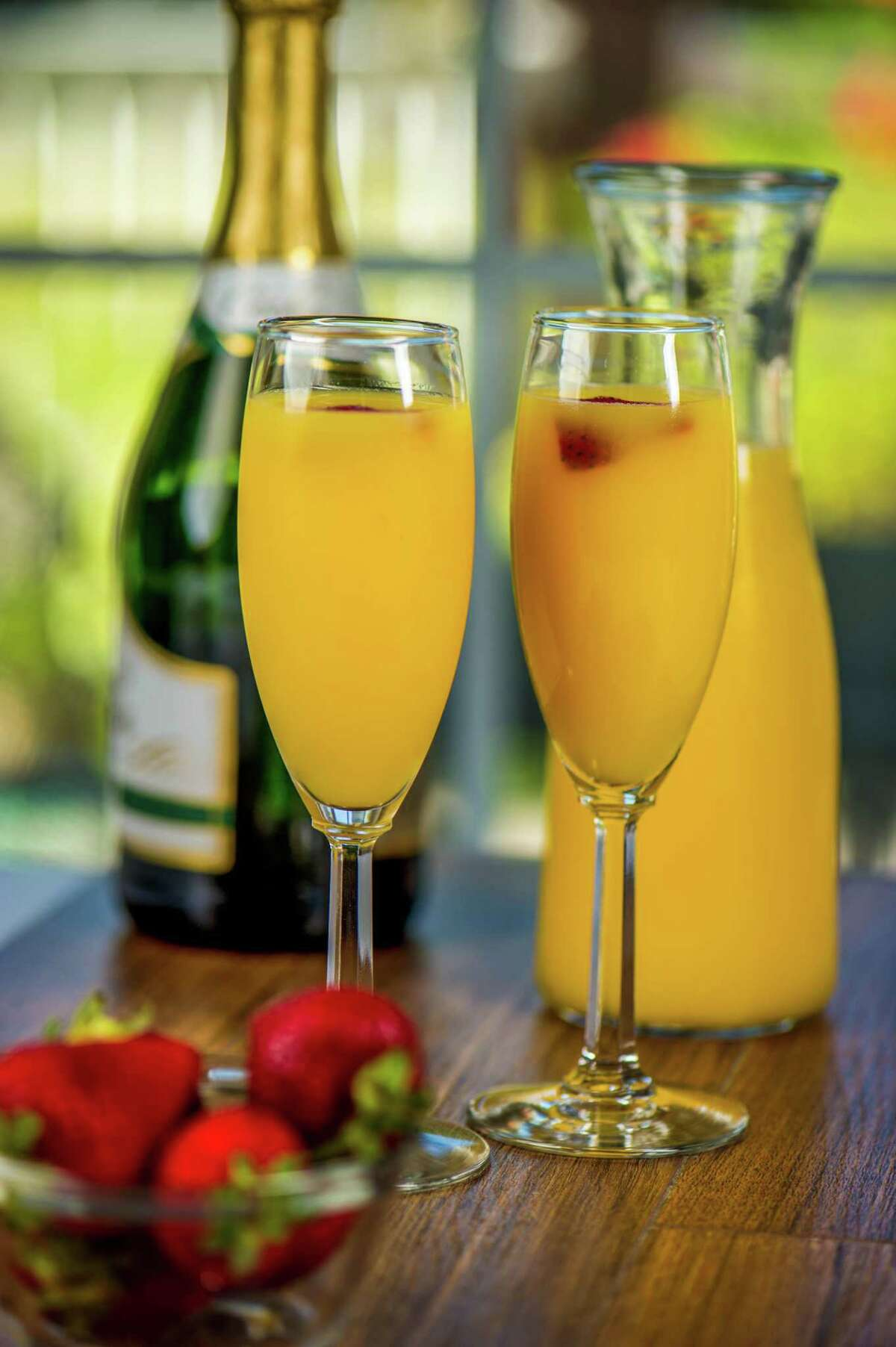 Mimosas add a splash to Mother's Day breakfast.