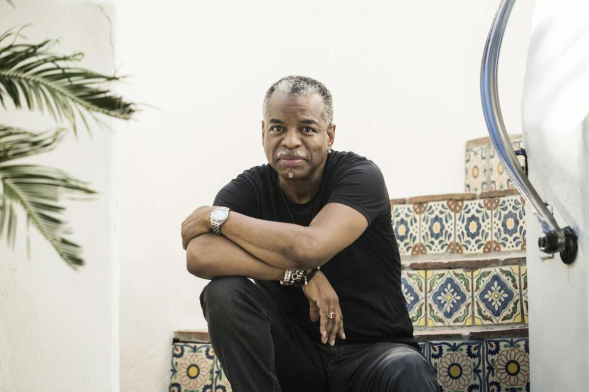 Actor, director and podcaster LeVar Burton is shown outside of his home on April 28, 2020. MUST CREDIT: Photo for The Washington Post by Emily Berl