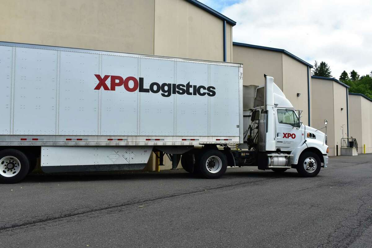 Several XPO Logistics employees said in an online forum Tuesday, May 12, 2020 that they were working in unsafe conditions without enough personal protective equipment or sufficient cleaning supplies.
