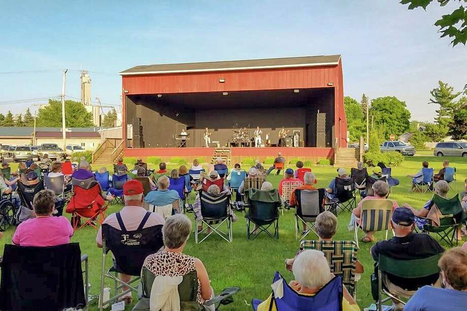 The Pigeon Band Shell during a performance. The organizers announced that this summer's performances will be postponed for 2021. (Courtesy Photo/Pigeon Band Shell)
