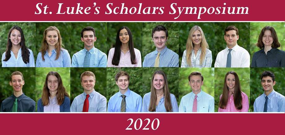In April, a group of seniors demonstrated their ability to showcase their mastery level research and presentation skills during the annual St. Luke's Scholars Symposium. Photo: Contributed Photo