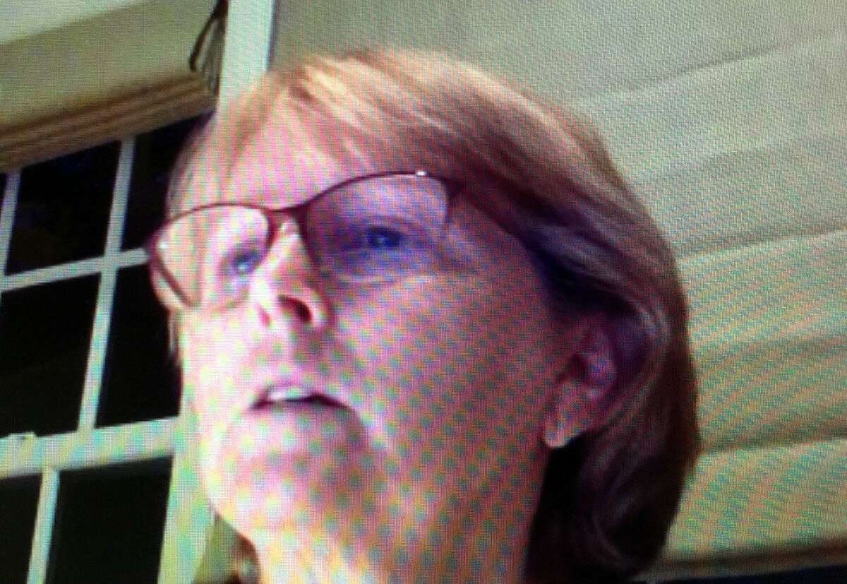 Wilton First Selectwoman Lynne Vanderslice discusses revsions to the FY 2021 town budget, including a 20 percent cut to her own salary, via a live stream videoconference on Monday, May 4.